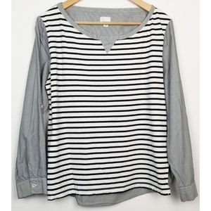 Postmark Anthropologie large striped blouse